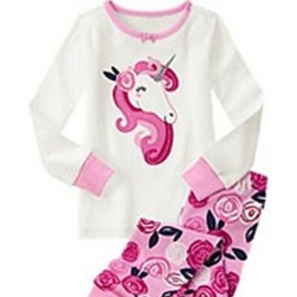 New Unicorn toddler girls pajamas size 2T 3T 4T 5T Unicorn long sleeve pajamas